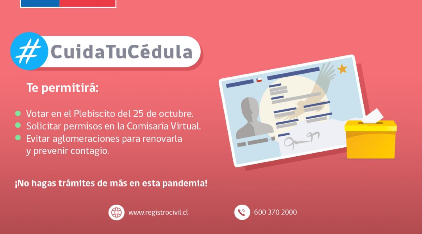 """Hasta el 16 de octubre se amplia campaña """"Cuida tu Cédula"""" del Registro Civil"""